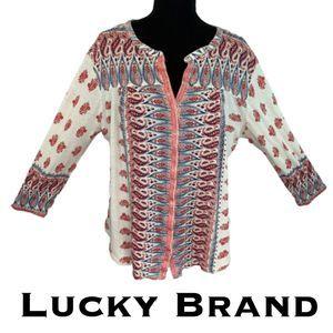 Lucky Brand Boho Blouse Size XL